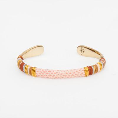 Gas Bijoux Pink Snakeskin Massai Bracelet
