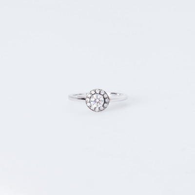 Anna Sheffield Tiny Round Rosette Ring 14K White Gold