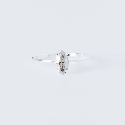 Bing Bang Tiny Marquis Ring Silver Plated
