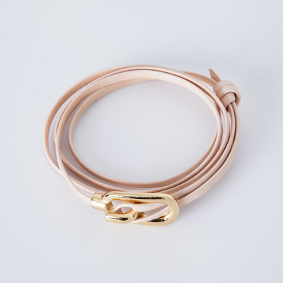 Miansai New Gamle Natural Leather Bracelet Gold