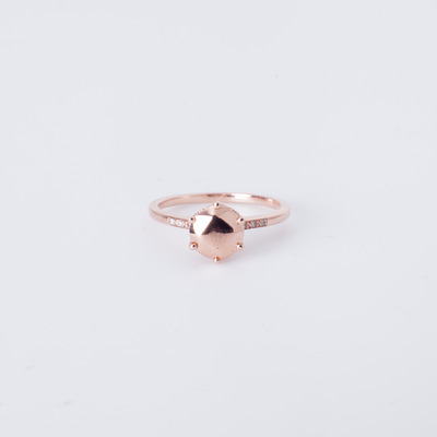 Anna Sheffield Hazeline Solitaire Ring 14K Rose Gold
