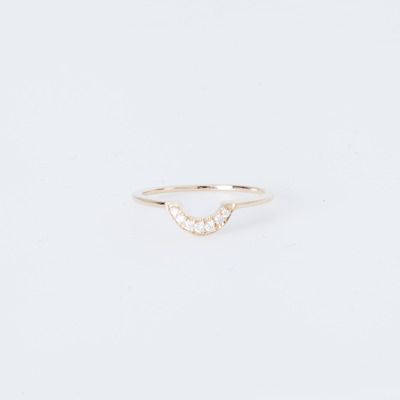 Anna Sheffield Tiny Crescent Ring 14K Gold