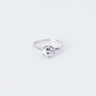 Anna Sheffield Hazeline Solitaire Ring Sterling Silver