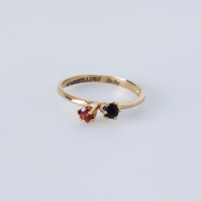 Puro Iosselliani Sapphire & Garnet Ring