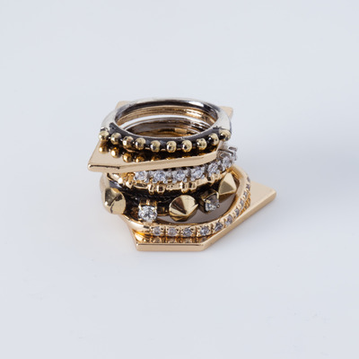 Iosselliani Zircon Mixed Ring Set