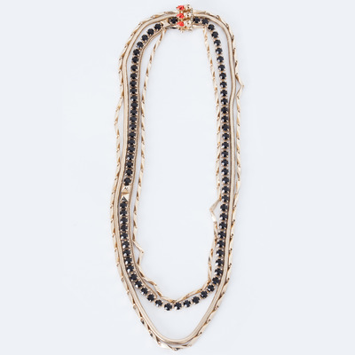 Iosselliani Multichain Long Necklace