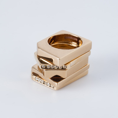 Iosselliani Chunky Geometric Ring Set