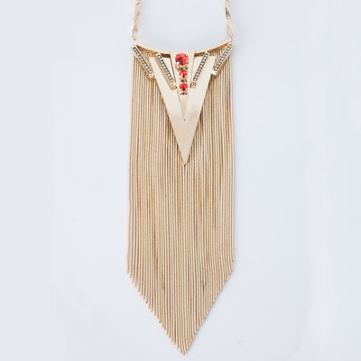 Iosselliani Fringe Triangle Necklace