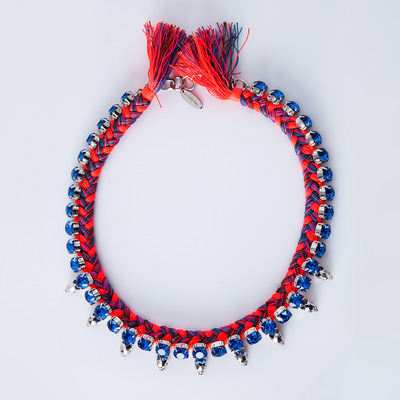 "Joomi Lim ""Punk Carnival"" Braided Cotton Choker"