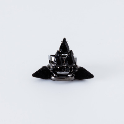 "Joomi Lim ""Velvet Underground"" Spike & Crystal Ring Set"