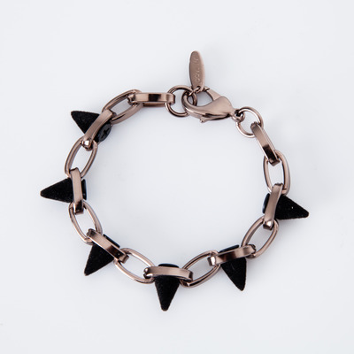 "Joomi Lim ""Velvet Underground"" Brown Spike Single Row Bracelet"