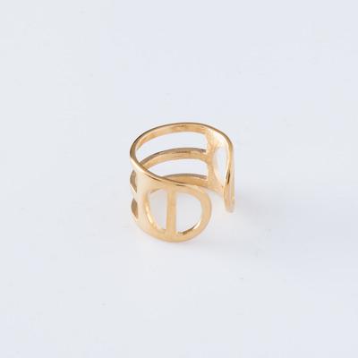 Alynne Lavigne 22K Gold Plate Tri-Line Ring