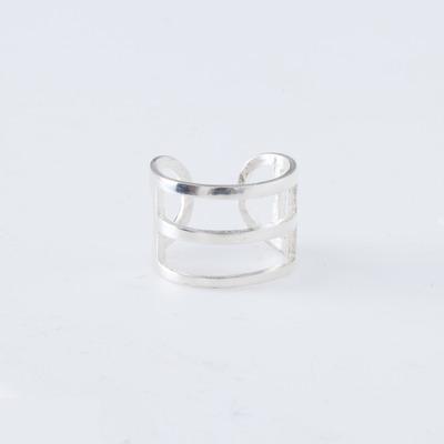 Alynne Lavigne Sterling Silver Tri-Line Ring