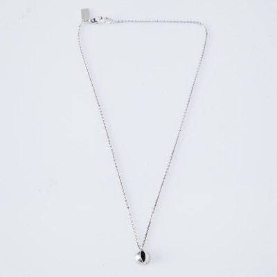 Lady Grey Cat Eye Necklace Silver