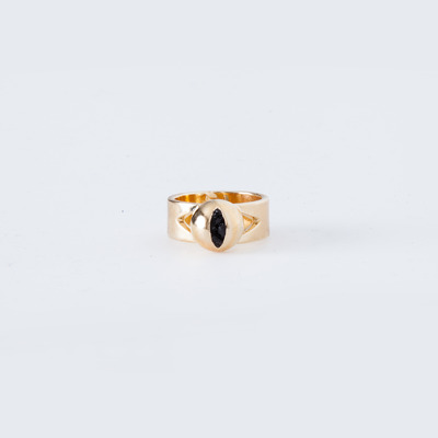 Lady Grey Cat Eye Ring Gold