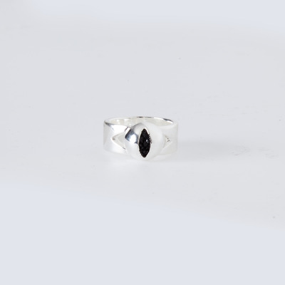 Lady Grey Cat Eye Ring Silver