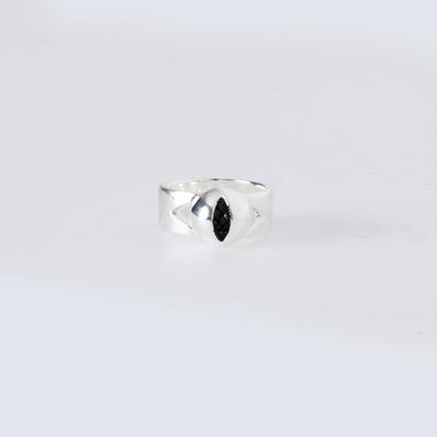 Lady Grey Cat Eye Ring Silver