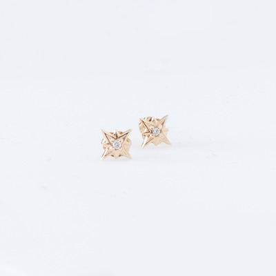 Vale Tiny Starburst Stud Earrings