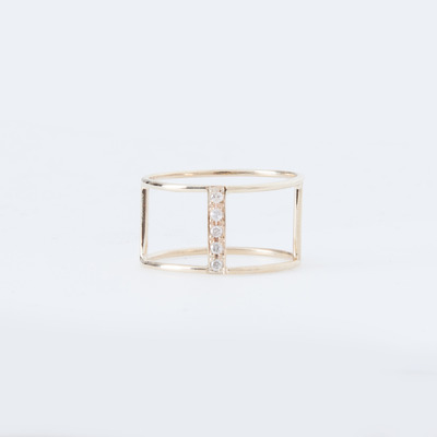 Vale Diamond Pavé Corset Ring