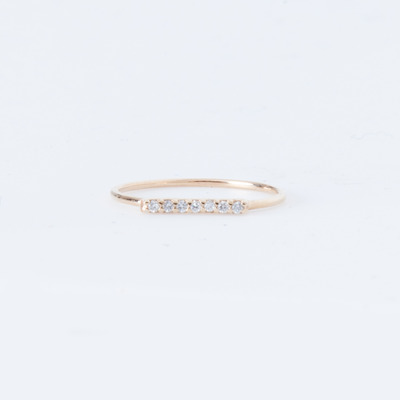 Vale 7 Diamond Tiny Pavé Bar Ring