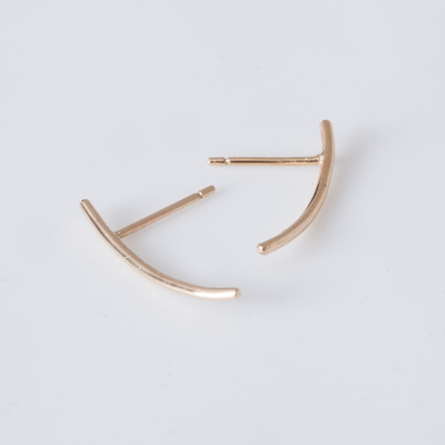 Jennie Kwon Single 14K Gold Bar Earring