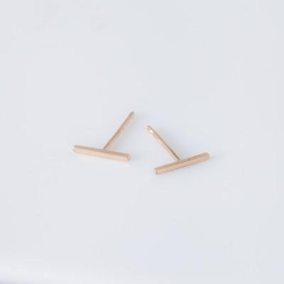Vale 14K Yellow Gold Staple Stud Earrings