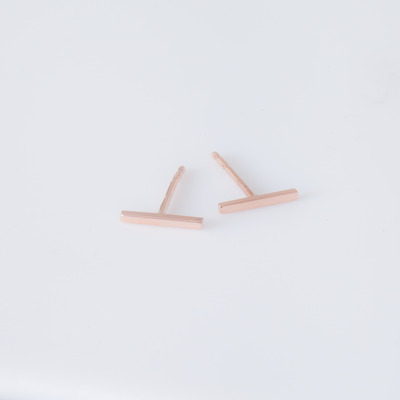 Vale 14K Rose Gold Staple Stud Earrings