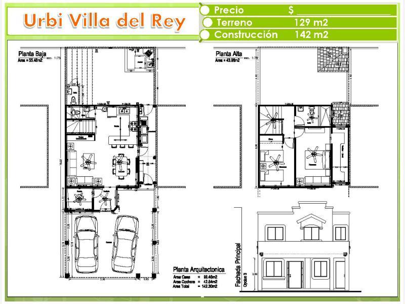 Casa en venta las lomas urbi villa del rey hermosillo for Planos de casas urbi villa del rey