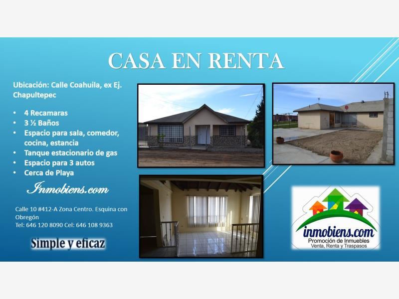 Casa en renta ejido chapultepec ensenada baja for Casas en renta ensenada