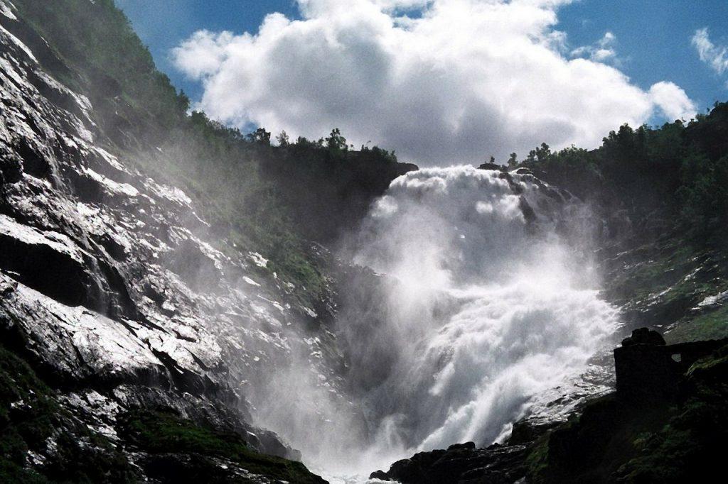 Waterfall on the Flåm Railway