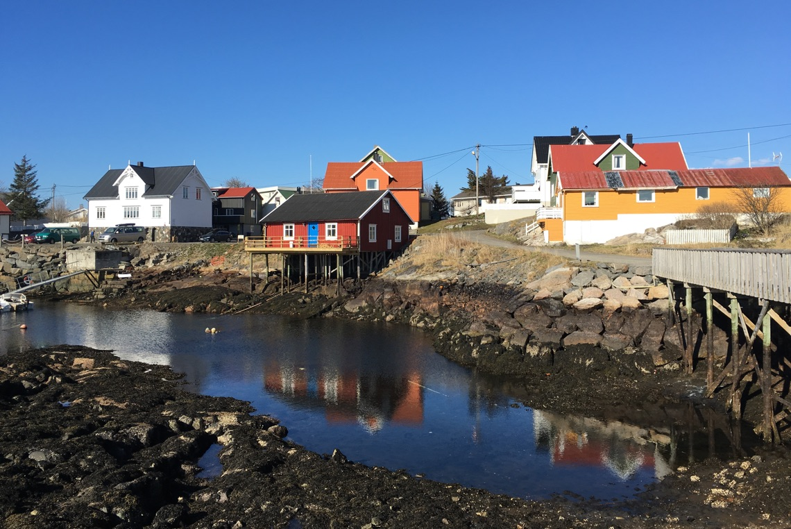 Rocky shoreline of Henningsvær