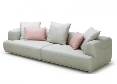 Rosette Living Room Sofa In Pastel Hues