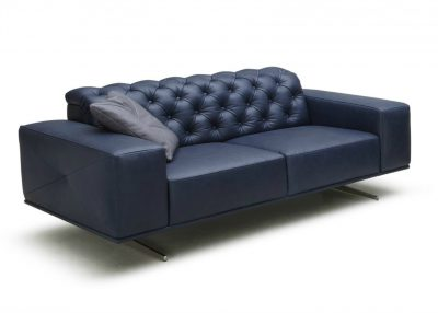 Sloan Sofa In Rich Blue Leather