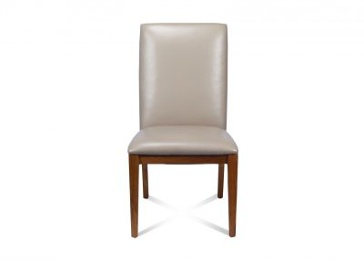 Spira Dining Chair In Taupe Leather
