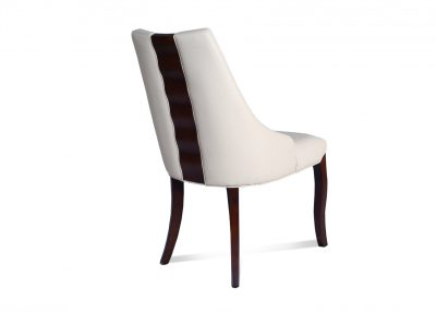 Clover Dining Chair In Cream Leather