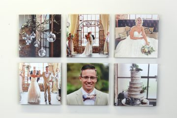 Canvas Gallery Wall Collage // Wedding Photos by The Reason Photography