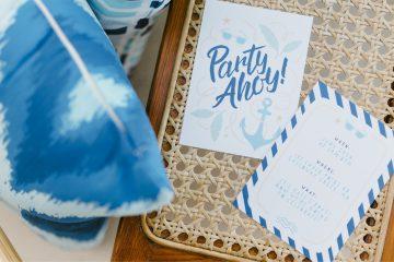 Summertime birthday party invitations