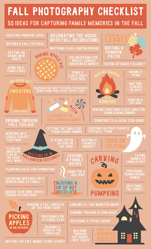 50 Fall Photography Ideas for Families Infographic