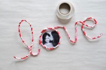 project kid diy valentines day photo frame