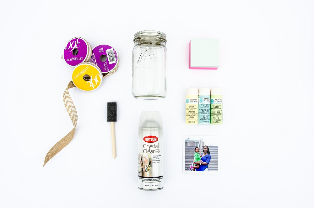 Materials for DIY Photo Flower Vase Project
