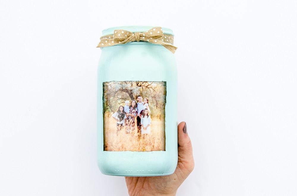DIY Photo Flower Vase for Mother's Day
