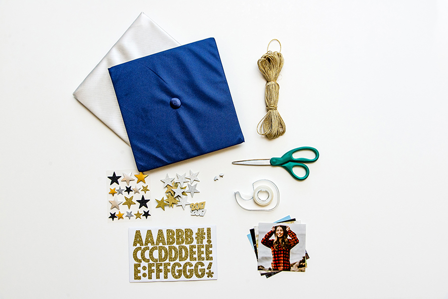 Materials for DIY Graduation Cap