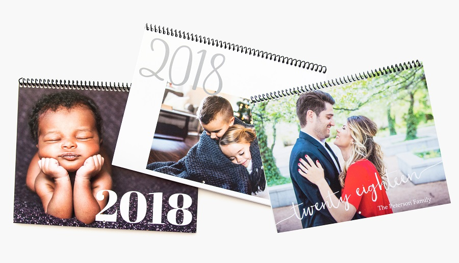 Custom made photo calendars