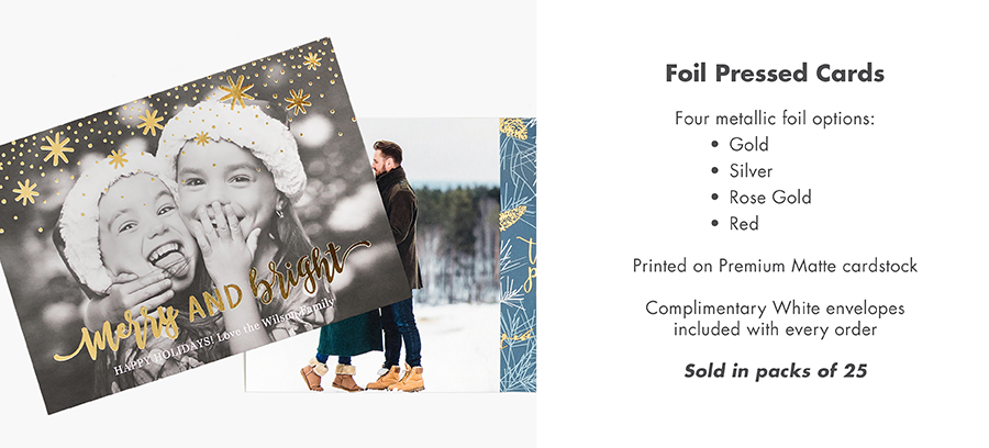 Description of Foil Holiday Cards