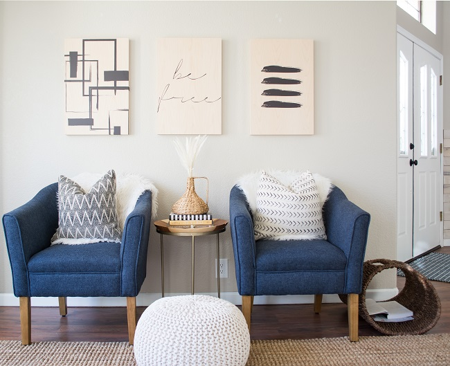 Wood Print Wraps Interior Design Style