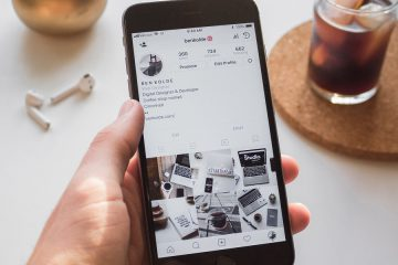 Picture of phone displaying instagram feed