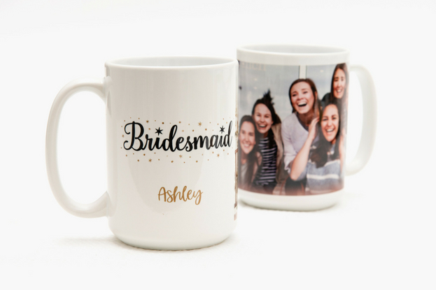 Custom photo mugs for your bridesmaids