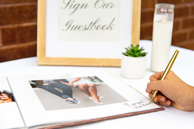 Writing in your wedding guest book