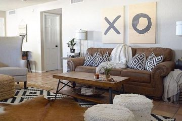 Rustic and modern home decor