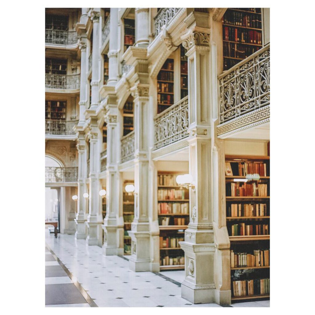 Peabody Library in Baltimore, Maryland